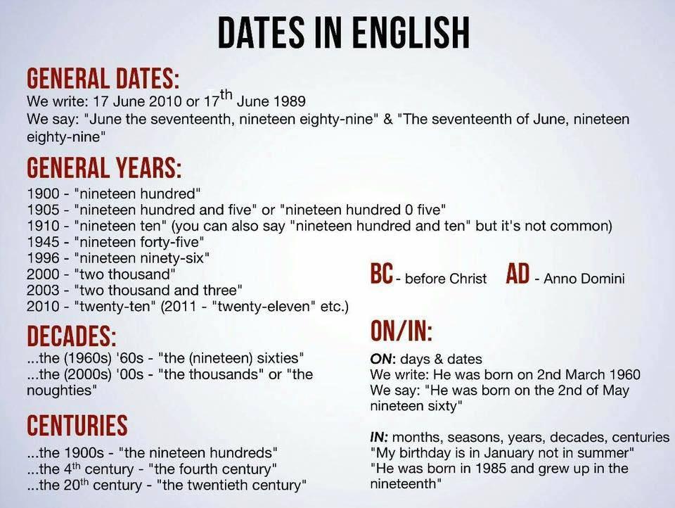 даты-в-английском